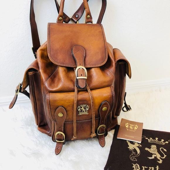 1ec2c78e9230 PRATESI Firenze Italian Leather backpack